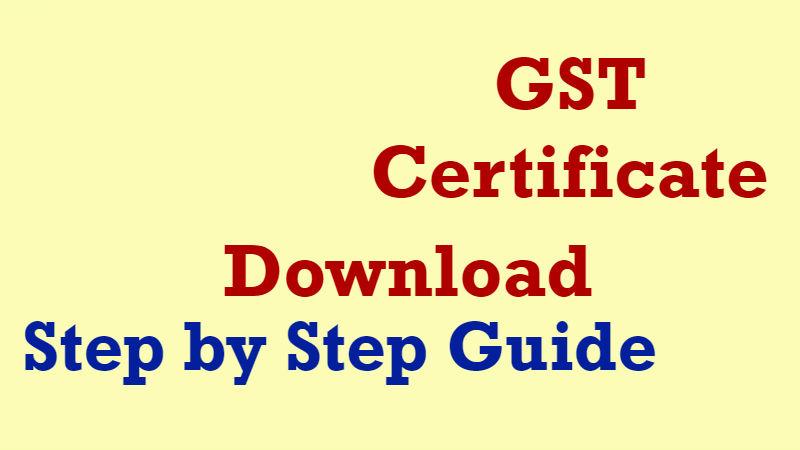 GST Certificate Download Online