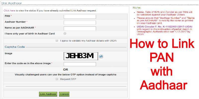How to Link PAN with Aadhaar