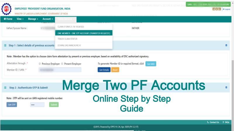 merge pf accounts