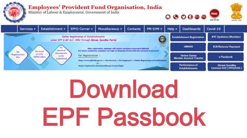 Online EPF Passbook Download